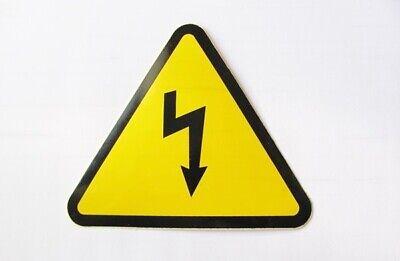 Pegatina rayo aviso riesgo eléctrico 110mm Electric shock risk sticker