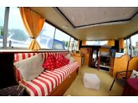 SPACIOUS FURNISHED 2 BED BOAT - IDEAL FOR SHARERS