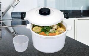 Olla para microondas presion 2 85l litros cocinar al vapor for Cocinar wok sin aceite