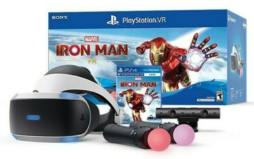 NEW Sony PS4 PSVR Marvel Iron Man Bundle VR Headset + Camera + Controllers 2020