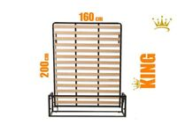 Classic Vertical 160cm x 200cm wall bed, Clearance