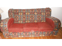 Two 3-seater 1950s sofas