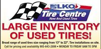 HUGE SELECTION OF USED WINTER TIRES GET THEM BEFORE SNOW FALLS!!