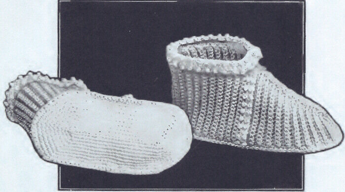 Vintage Crochet PATTERN Baby Booties Soft Shoes Boots