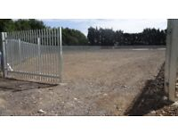 Secure yard area 4000 sq m approx 90ft by 45ft