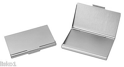 Business Card Holder All Metal Pocket Size  Silver Anc002s