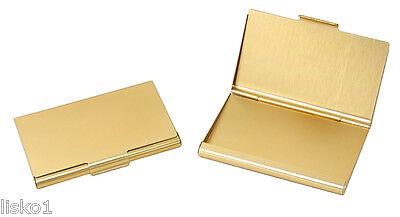 TZ Case Business card Holder All metal Pocket size Gold ANC002G