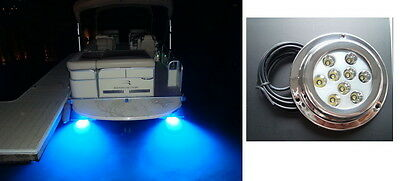 27W,blue Marine Boat Underwater led  Light,316Marine(boat) Grade Stainless,IP68