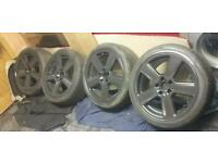 "Genuine 18"" Audi RS6 S Line Alloys FIT A3 A4 A6 TT VW GOLF MK5 TOURAN SEAT LEON VRS"