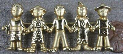 Village People Dress Up (Vintage 5 Village People Goldtone Pin)