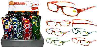 Plastic Color Reading Glasses With Pouch