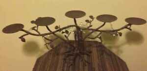 Iron tree candal stick holder