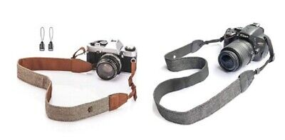 Adjustable Camera Shoulder Neck Strap Cotton Leather Belt For Nikon Canon DSLR
