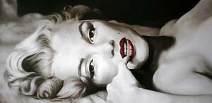 Large Nude Marilyn Monroe Picture Oil Painting Canvas Wall Art