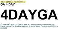 2 Tickets  Craven Country Jamboree  & Silver Sec F Camping Pass