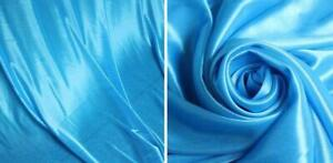 Used Three Fold Blue Wedding Stage backdrop party drapes with swag silk fabric curtain Second Hand#021114
