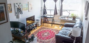 31/2 (large 1 bedroom apartment) downtown Montreal - June juin