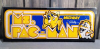 "1981 Ms. Pac-Man Midway Sign Approximately 23"" x 9"""