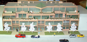 HO scale and other scale buildings for train layouts etc.