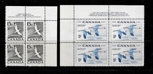 Stamps - Canada #343 & #353 - Plate Blocks - F-VF NH