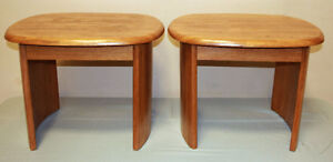 Excellent 3 Piece Oak Coffee & Side Table Set  SEE VIDEO Kitchener / Waterloo Kitchener Area image 3