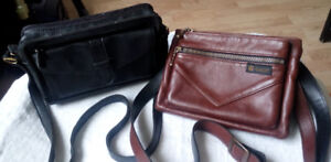Black purse $25.00 - Leather cognac color bag $75.00
