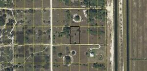 1.25 Acres in quiet community east of Fort Myers, Florida