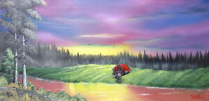 """TOILE GALERIE 15"""" X 30"""" A SEULEMENT $60"""