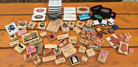 HUGE Paper Craft Lot Over 200 Stamps/Punches/Ink Sets EUC/New