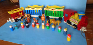 VINTAGE LE TRAIN CIRCUS de FISHER PRICE # 991 + EXTRA FIGURINES