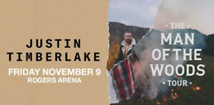 Justin Timberlake 2x FLOOR SEATS Vancouver Friday Nov 9