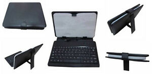 "Black Leatherette case/stand for 7"" iPad/tablet"