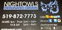 NightOwls Designated Drivers looking for you