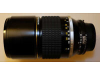 Nikon NIKKOR 180mm f/2.8 ED lens - boxed and mint.