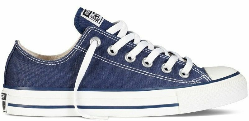 CONVERSE All Star Chuck Taylor Low Top YOUTH KIDS Unisex Canvas Sneakers NAVY
