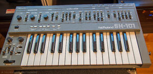 Roland SH-101 Monosynth with MGS-1 Modulation Grip