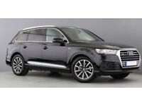 Black AUDI Q7 3.0 TDI Diesel QUATTRO S LINE FROM £230 PER WEEK!