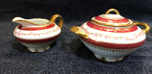 Vintage / Antique Creamer and Sugar Bowl from CH Field Haviland