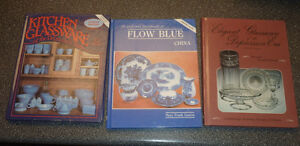 3 hardcover books for glassware, china collectors $ 5 EACH
