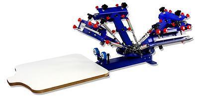 4 Color 1 Station Screen Printing Machine Micro-adjust Printer Press Hobby Tool