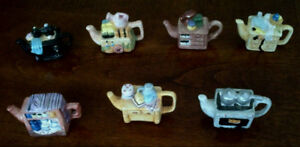 RED ROSE Miniture Tea Pot Sets - singles from all 4 sets
