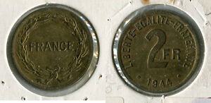 2 francs 1944 - France - 2 francs 1944France - France