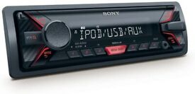 SONY CAR MECHLESS MEDIA PLAYER/STEREO with FRONT USB / AUX POINTS for IPOD/ PHONE DEVICES