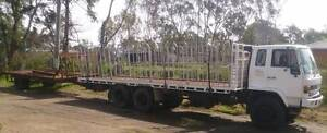 ISUZU FVM 199O 1400 LONG 8M TRAY 6X4 WITH BEAVER TAIL TRAILER Shanes Park Blacktown Area Preview