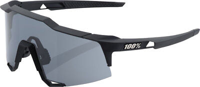 100% Speedcraft Sunglasses: Soft Tact Black Frame with Smoke (Speedcraft Sunglasses)