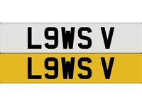 Private Number Plate (L9WS V) LOWS V