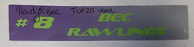 Bec Rawlings Signed Personally Used Tuf 20 Ufc Locker Room Name Plate Bas Coa  8