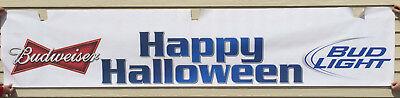 Budweiser Bud Light Beer Poster Sign Happy Halloween Bar Restaurant 120