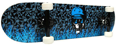 PRO Skateboard Complete KROWN Blue Flame 7.75 in