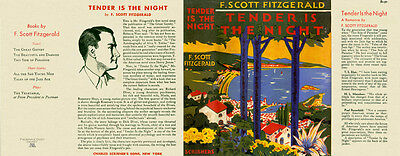 Fitzgerald TENDER IS THE NIGHT facsimile dust jacket for 1st ed/early (NO BOOK)